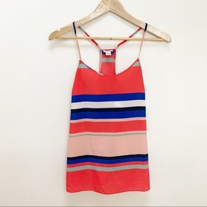 J. Crew Printed racerback cami striped 00